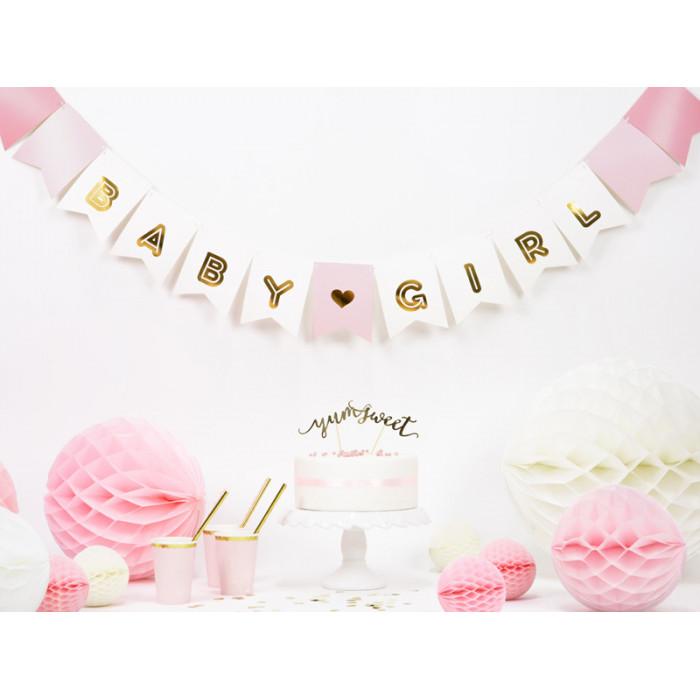 Pompon bibułowy, karmel, 25cm
