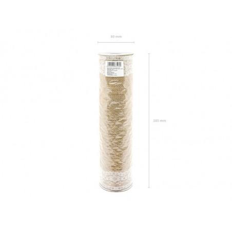Pompon bibułowy, czerwony, 35cm