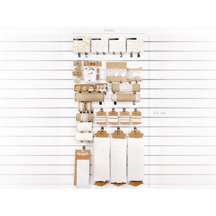 Pompon bibułowy, biały, 35cm