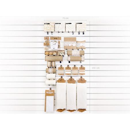 Pompon bibułowy, purpura, 35cm