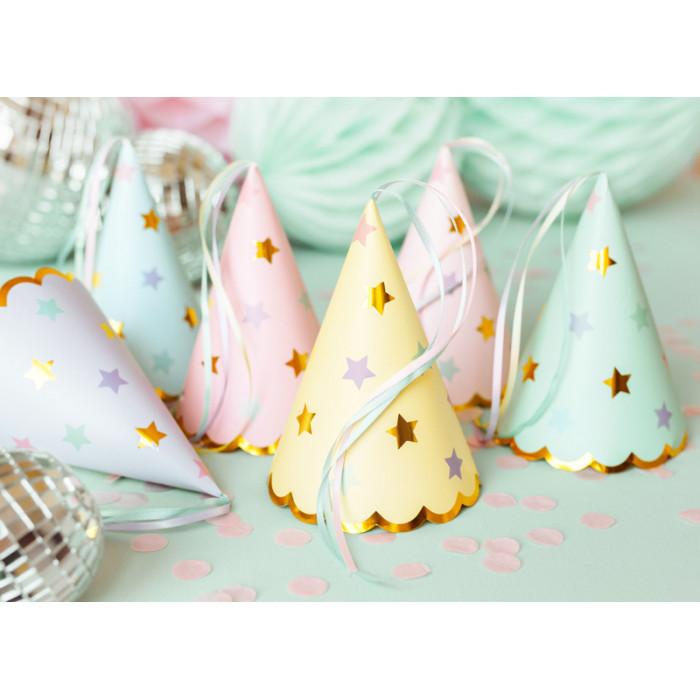 Pompon bibułowy, żółty, 35cm