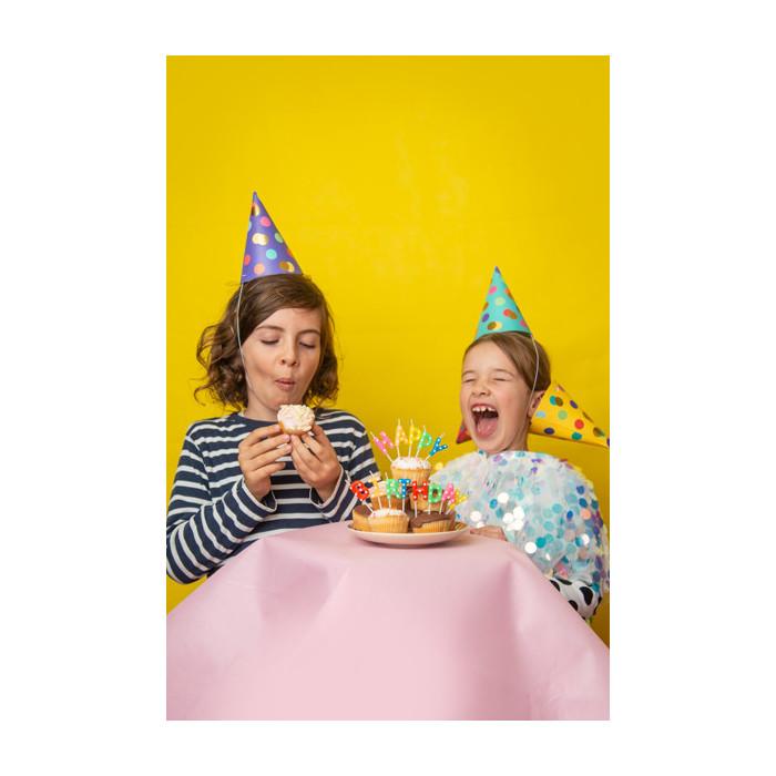 Pompon bibułowy, szary, 35cm