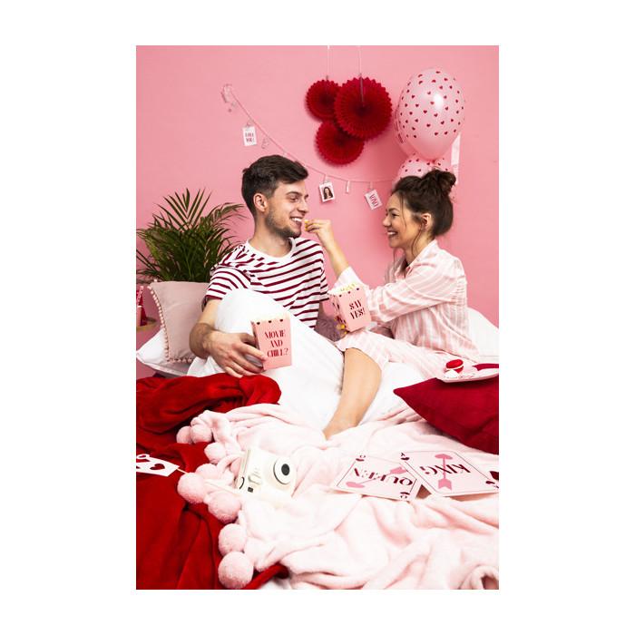Dekoracje brokatowe Gwiazdka, biały, 5cm