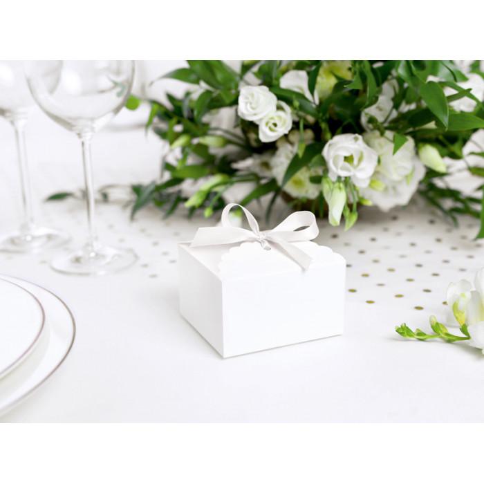 Aplikacja akrylowa Serce, perłowy, 8mm