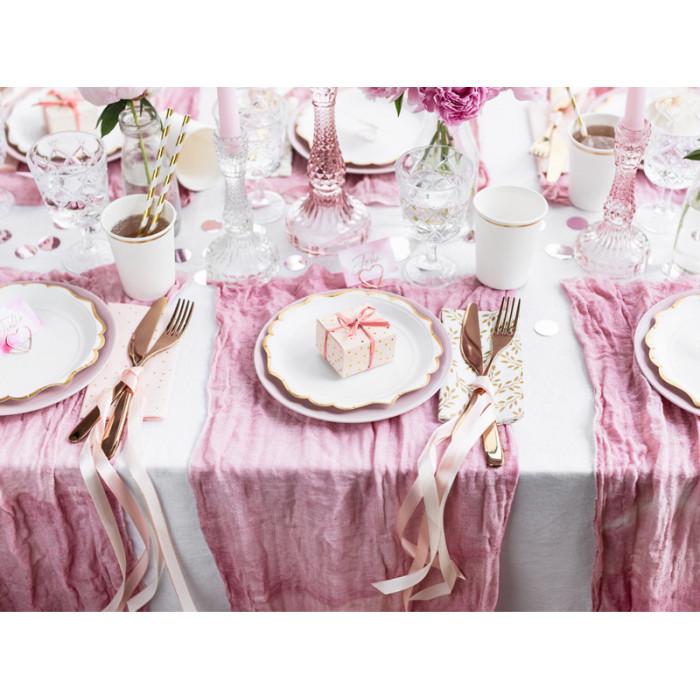Dżety w kształcie serca, srebrny, 12mm