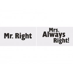 Tabliczki Mr. Right/Mrs. Always Right!