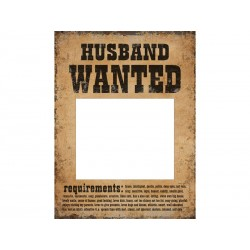 Tabliczki Husband Wanted i Wife Wanted