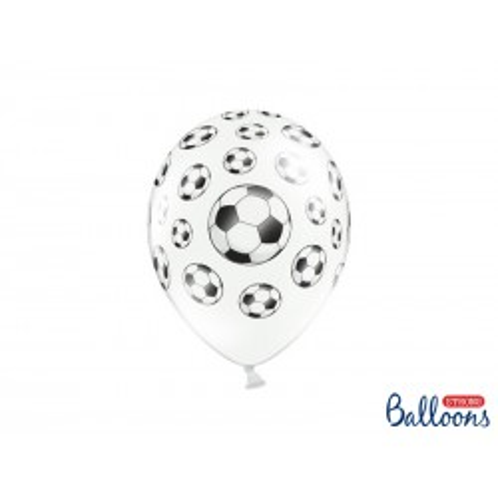 Balony 35 cm, Piłki nożne, Pastel P. White
