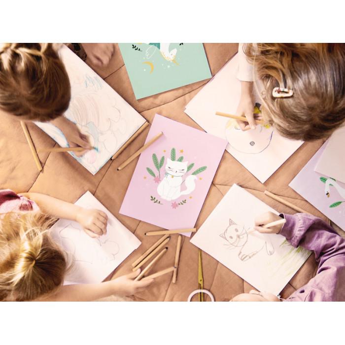 Balon foliowy Flaming, różowy, 70x95cm