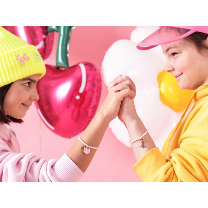Balon foliowy Kula, 40cm, ciemny różowy