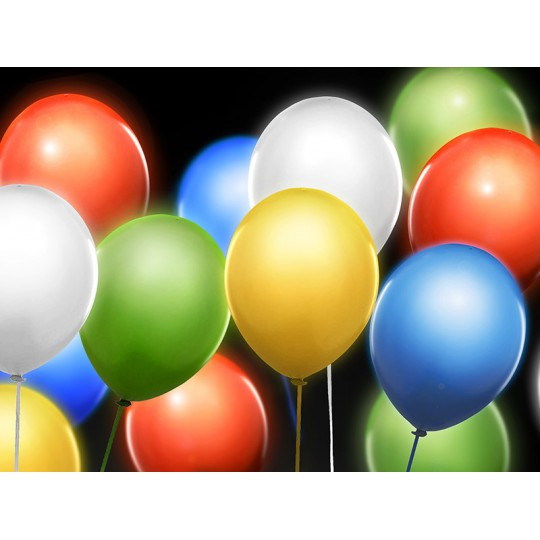 Balony Led 12'', mix (1 op. / 5 szt.)