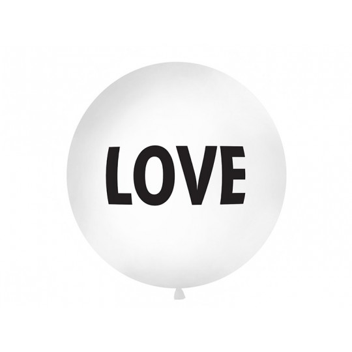 Balon 1 m, Love, biały