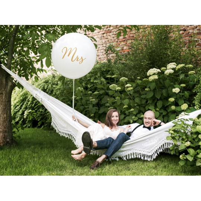 Balon 1 m, Mrs, biały
