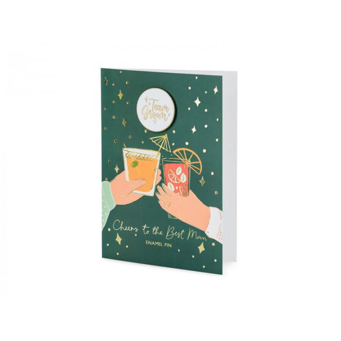 Balon foliowy 40th Birthday, złoty, średnica 45cm