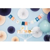 Baner Happy Birthday, mix, 11,5 x 140 cm