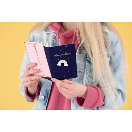 Baner Happy New Year, czarny, 15 x 170 cm
