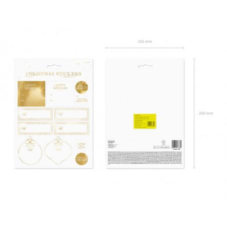 Baner Happy New Year, złoty, 10 x 90 cm