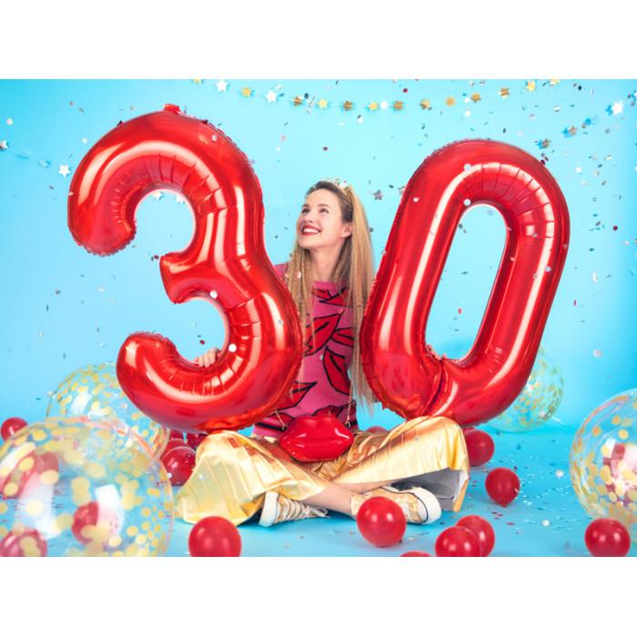 "Balon foliowy Litera ""N"", 35cm, srebrny"