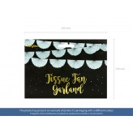 Girlanda bibułowa Rozety, malachit, 3m