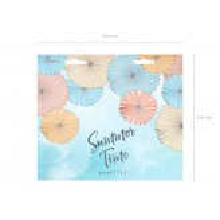 Rozety dekoracyjne Summer time, mix (1 op. / 6 szt.)