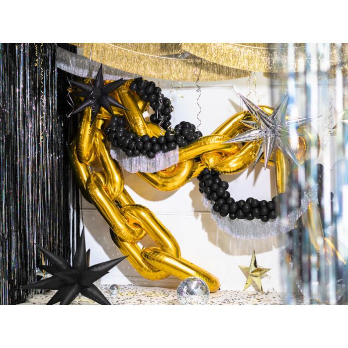 Talerzyki Happy Birthday, jasny różowy, 14x14cm. (1 op. / 6 szt.)
