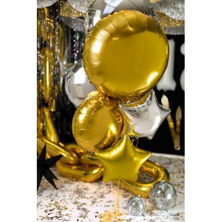 Talerzyki okrągłe, różowe złoto, 23cm (1 op. / 6 szt.)