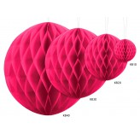 Kula bibułowa, c. różowy, 10cm