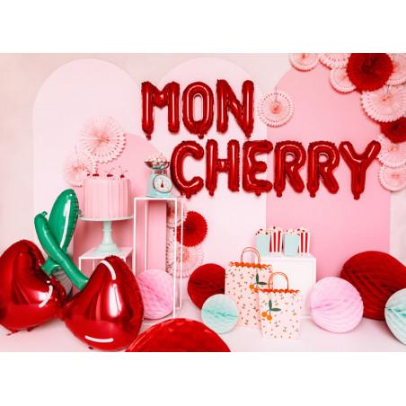 Kula bibułowa, pomarańcz, 20cm