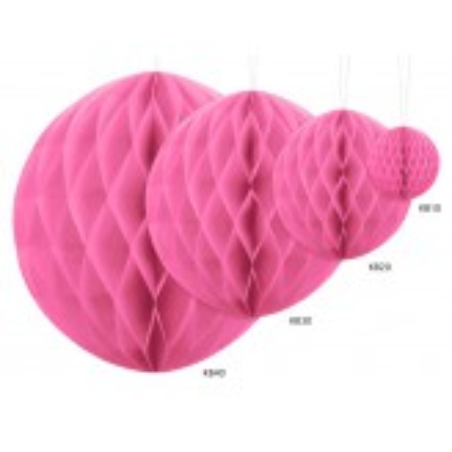 Kula bibułowa, różowy, 30cm