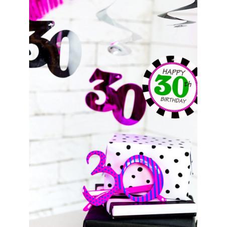 Tuba z płatkami róż, różowy, 40cm