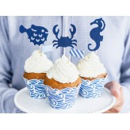 Dekoracje do muffinek Ahoy, 11,5-13 cm (1 op. / 6 szt.)