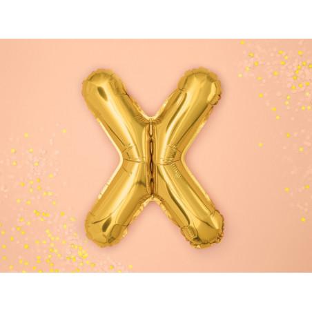 Dekoracje papierowe Love, złoty, 6x20cm (1 op. / 6 szt.)