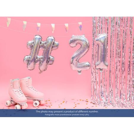 Topper na tort Love, srebrny, 17cm