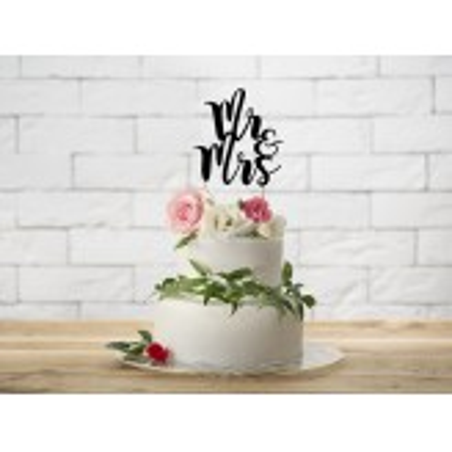 Topper na tort Mr&Mrs, 25,5cm