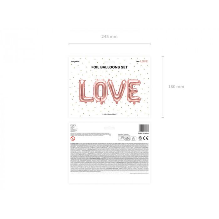 Słomki papierowe, różowe złoto, 19,5cm (1 op. / 10 szt.)