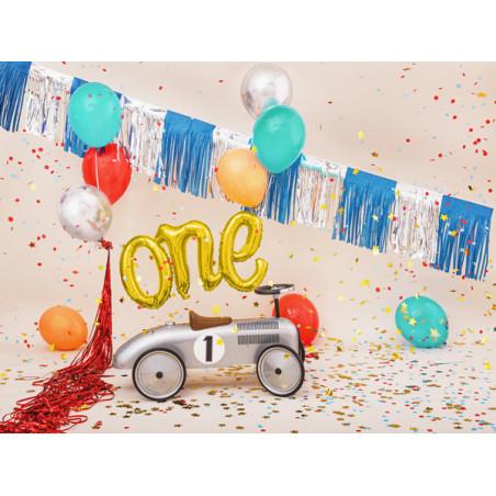 Słomki papierowe, złoty, 19,5cm (1 op. / 10 szt.)