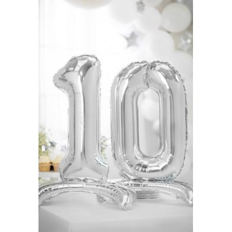 Świeczka urodzinowa Cyferka 1, różowy, 7cm