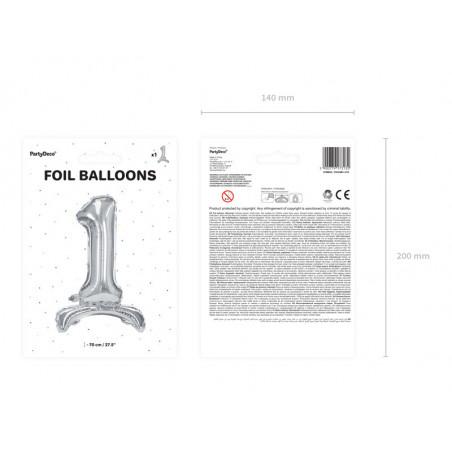 Świeczka urodzinowa Cyferka 1, złoty, 7cm
