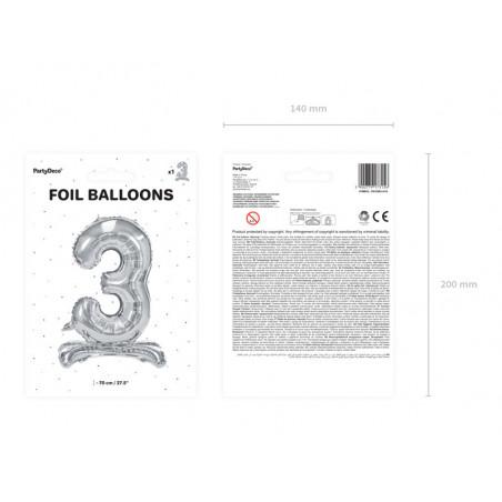 Świeczka urodzinowa Cyferka 0, złoty, 7cm