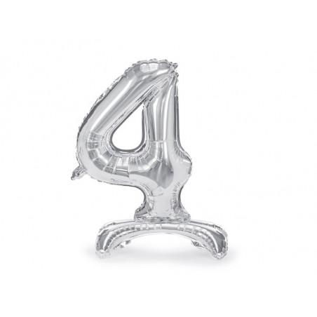 Świeczka urodzinowa Cyferka 1, srebrny, 7cm