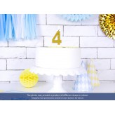 Świeczka urodzinowa Cyferka 2, złoty, 7cm