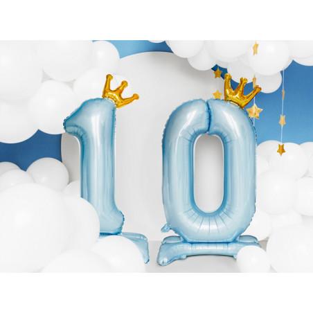 Świeczka urodzinowa Cyferka 4, srebrny, 7cm