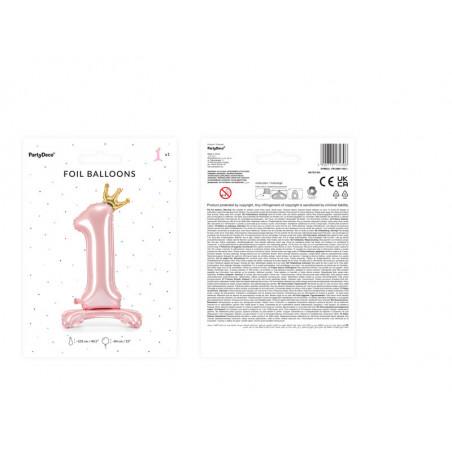 Świeczka urodzinowa Cyferka 5, złoty, 7cm