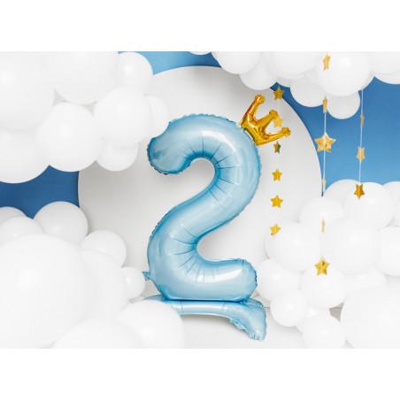 Świeczka urodzinowa Cyferka 6, srebrny, 7cm