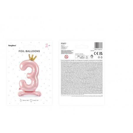 Świeczka urodzinowa Cyferka 7, srebrny, 7cm
