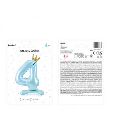 Świeczka urodzinowa Cyferka 7, złoty, 7cm