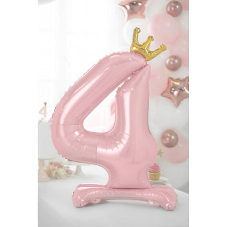 Świeczka urodzinowa Cyferka 8, srebrny, 7cm