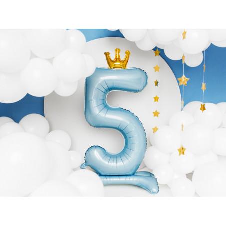 Świeczka urodzinowa Cyferka 8, złoty, 7cm