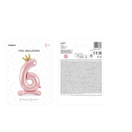 Świeczka urodzinowa Cyferka 9, srebrny, 7cm
