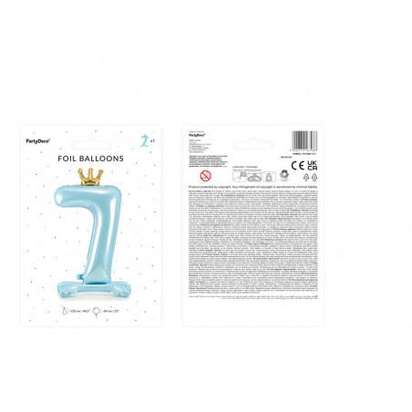 Świeczka urodzinowa Cyferka 9, złoty, 7cm